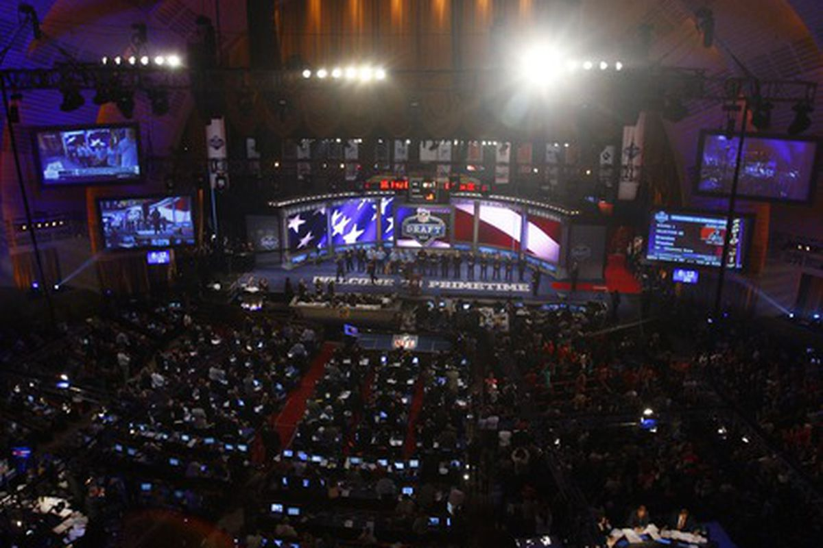 Apr 26, 2012; New York, NY, USA; A general view as members of the military are honored during the 2012 NFL Draft at Radio City Music Hall. Mandatory Credit: Jerry Lai-US PRESSWIRE