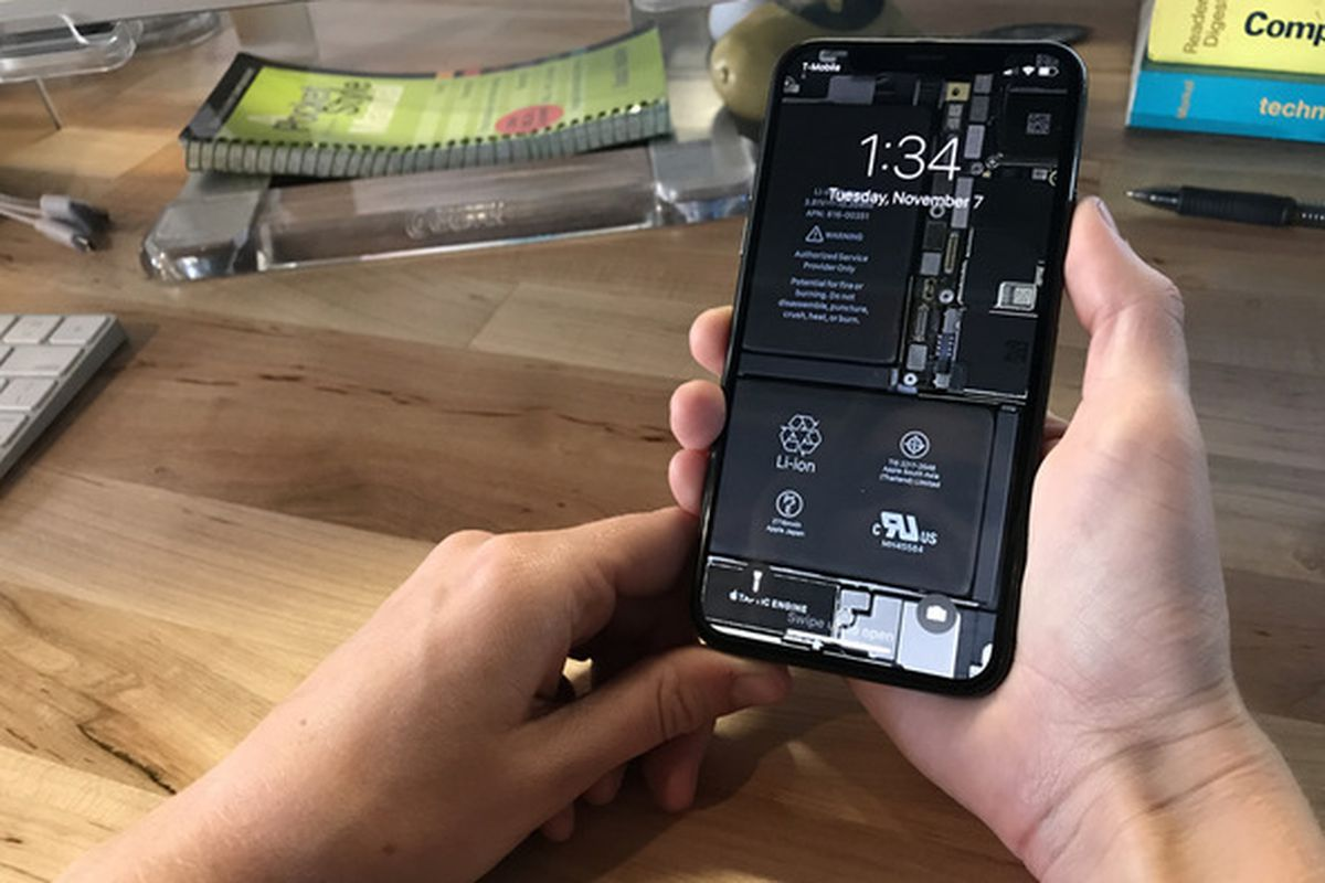 Heres A Cool See Through Iphone X Wallpaper That Shows Off Its 4 Diagram Logic Board Photo Ifixit