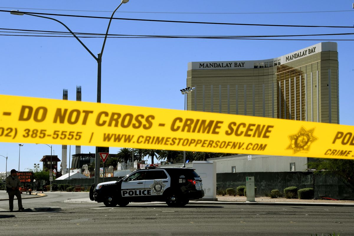 The scene of the Las Vegas mass shooting in 2017.