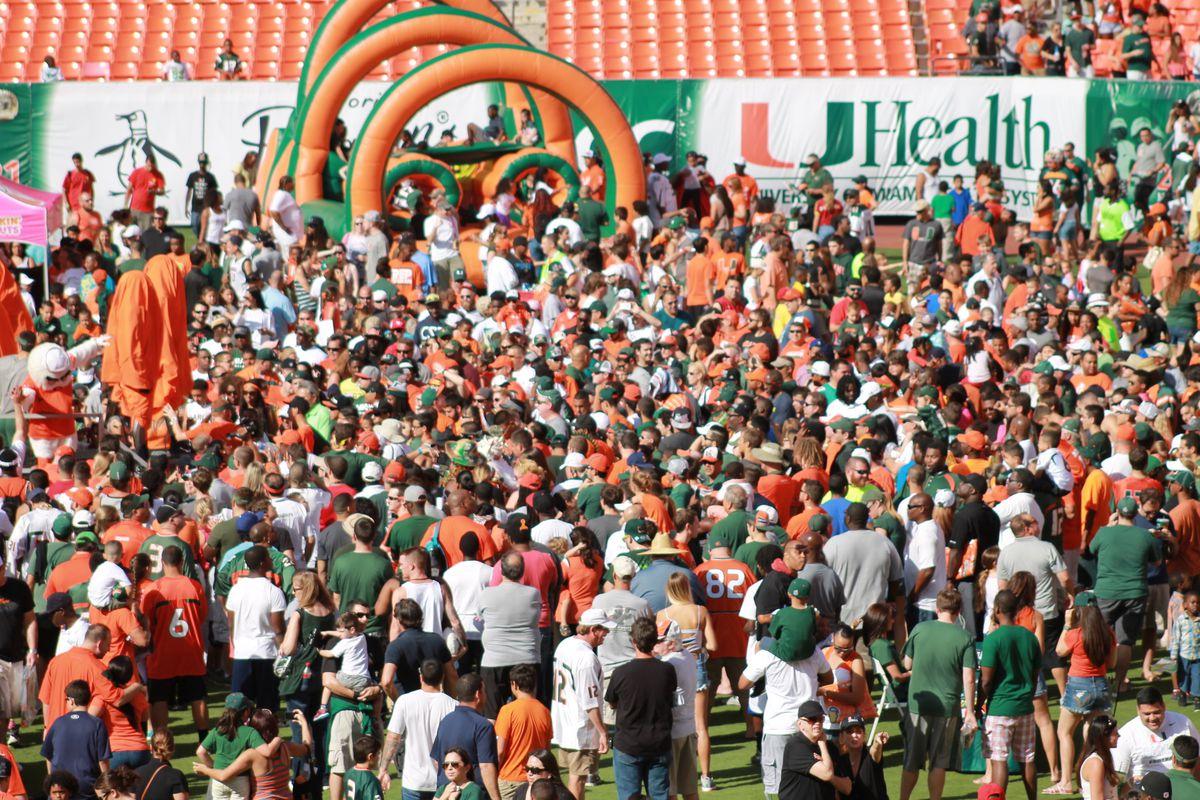 Miami Hurricanes Spring Game Images: UNITE14