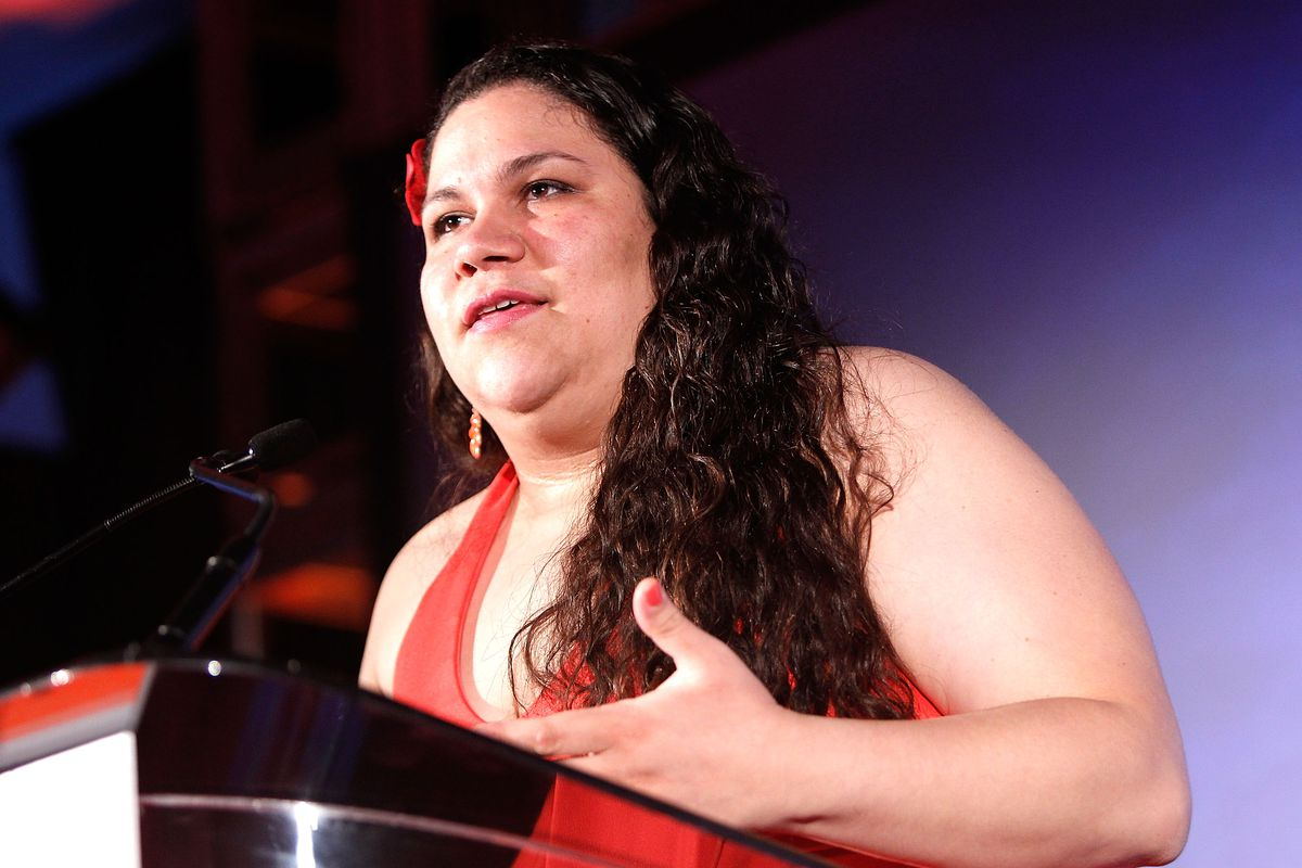 Gaby Pacheco speaks at a 2014 gala hosted by the YWCA.