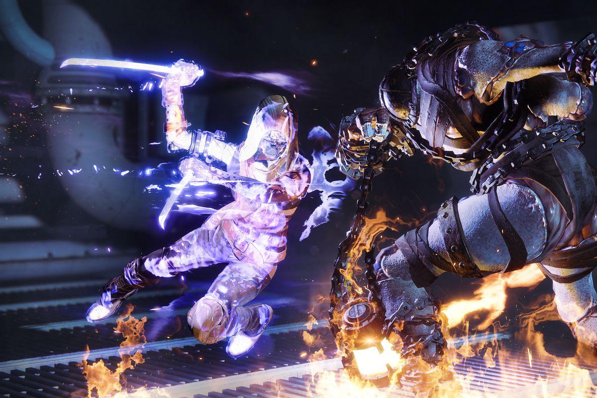 Destiny 2: Forsaken - a void Hunter using their super