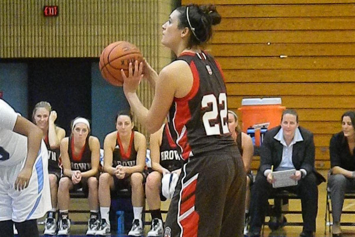 Brown's Sophe Bikofsky currently has the top true shooting percentage in NCAA DI at 97.1%.