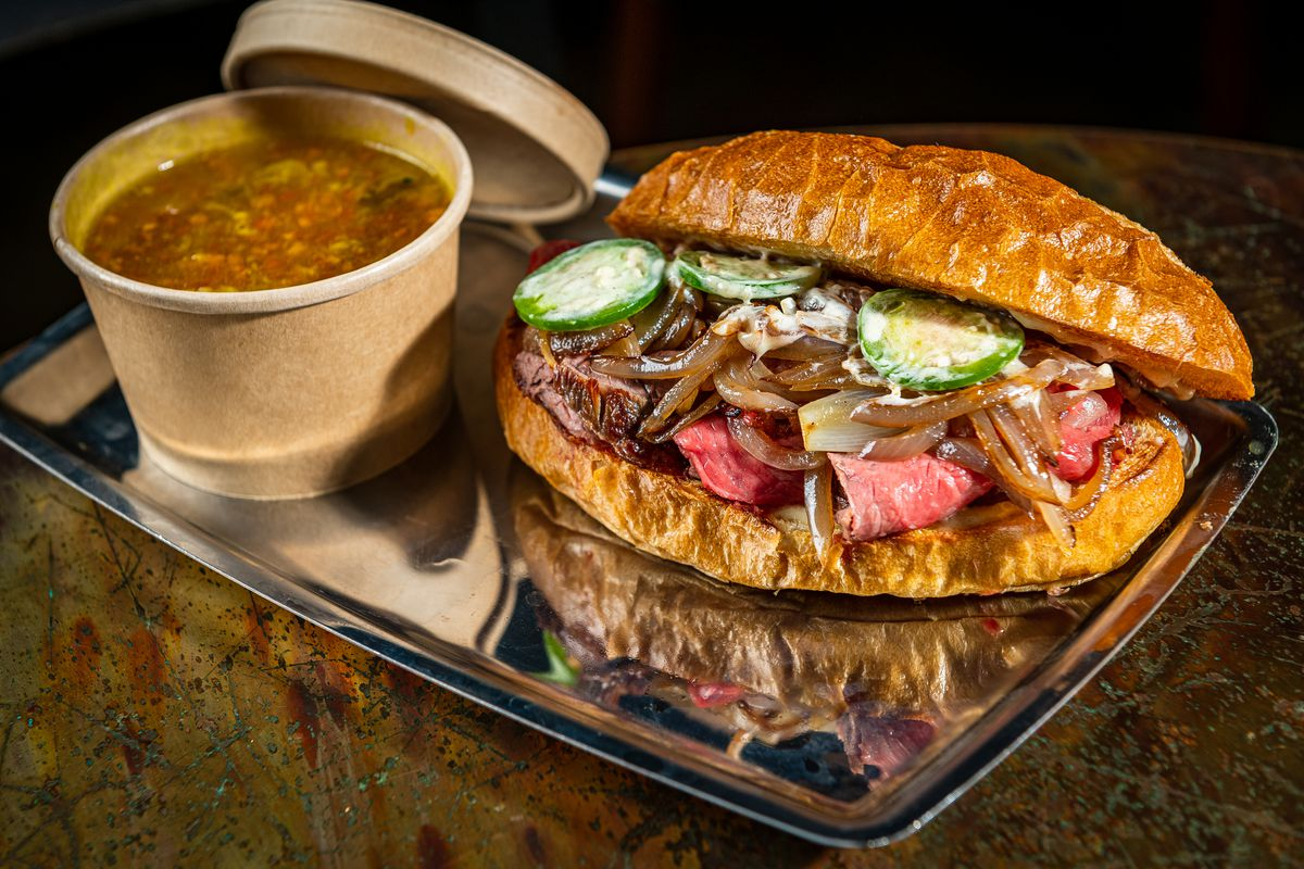 The new kikil French dip from Mélange chef Elias Taddesse