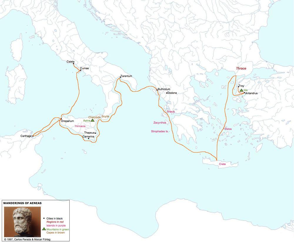 Journey of Aeneas