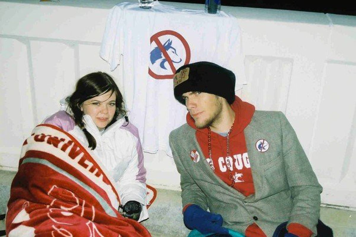 Here I am camping outside Bohler in anticipation of the 2006 Apple Cup.  Little did I know how awful the day would end.  Let's hope the Cougs give Husky fans those same feelings