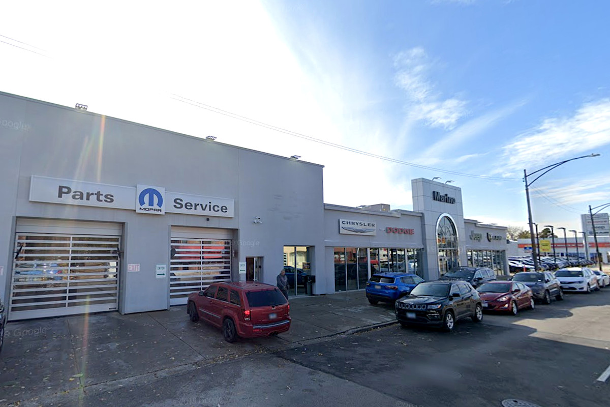 A car was stolen May 21, 2020, from Marino Auto Dealership in the 5100 block of West Irving Park Road in Portage Park.