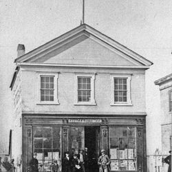 The Savage and Ottinger photo studio which was on Main Street between 1862-7.