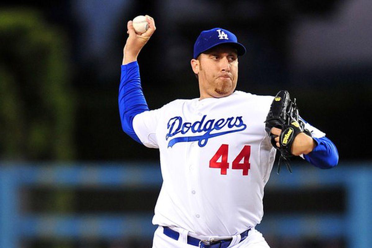 Aaron Harang broke a 50-year old Dodgers record Friday night.