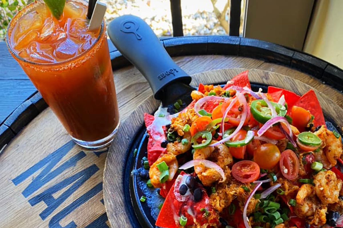 Baton Rouge nachos with shrimp, lobster and crab, on the menu at Nacho Daddy.
