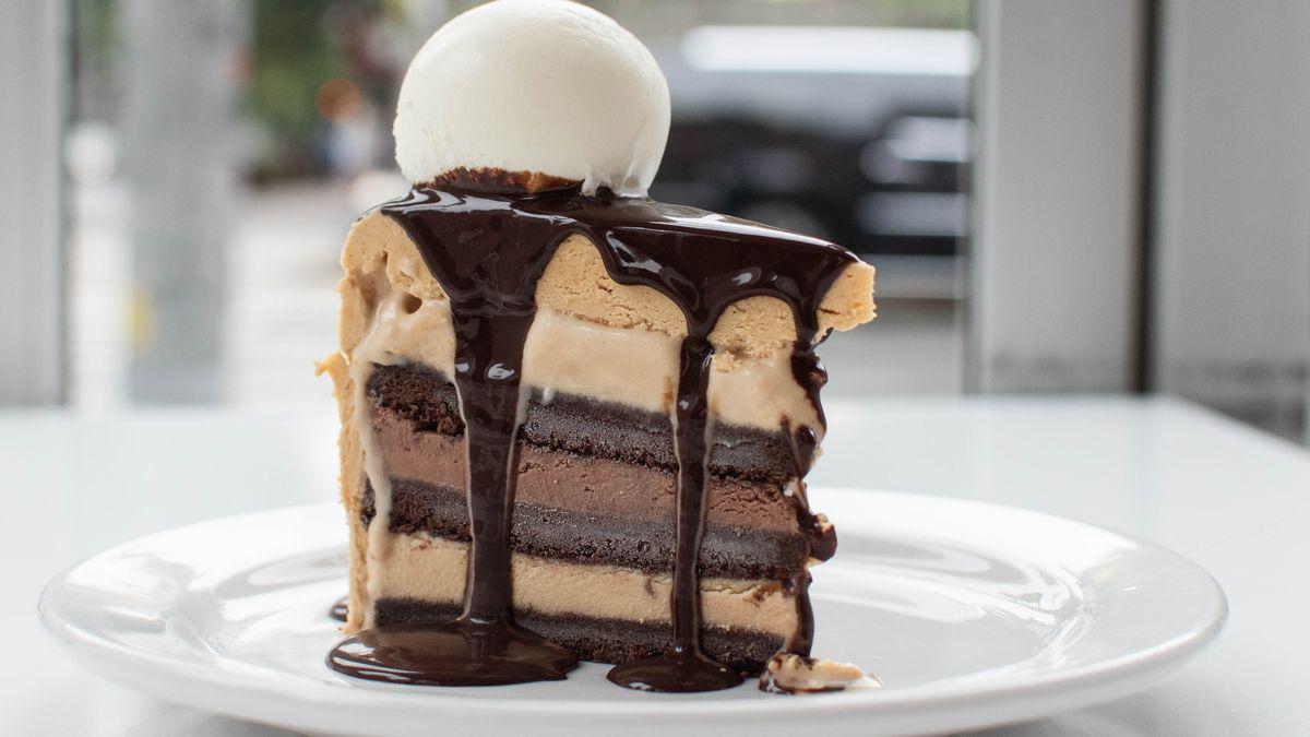 Ice cream cake at Morgernstern's Greenwich Village