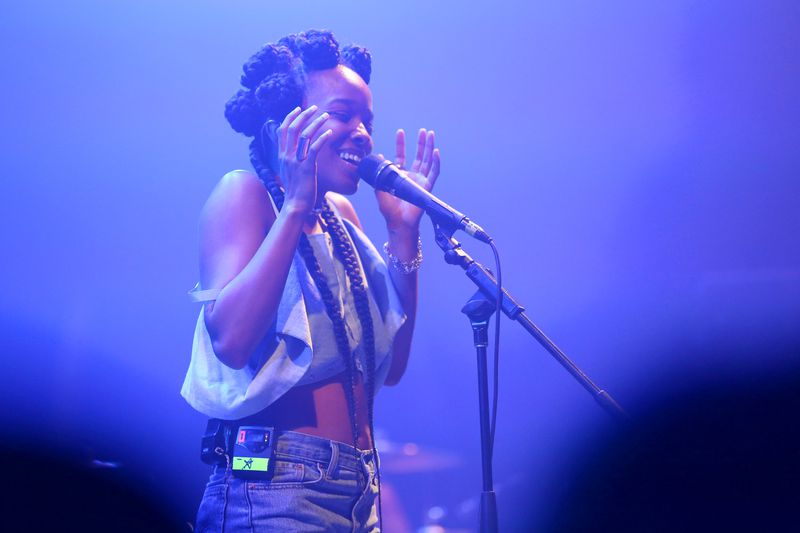 Jamila Woods performs onstage during the 2017 Panorama Music Festival at Randall's Island in New York City.