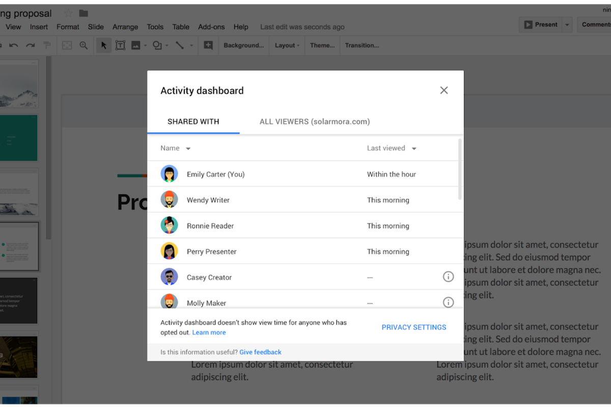 Googles G Suite Is Getting A New Activity Dashboard To Show Who - How to edit google docs
