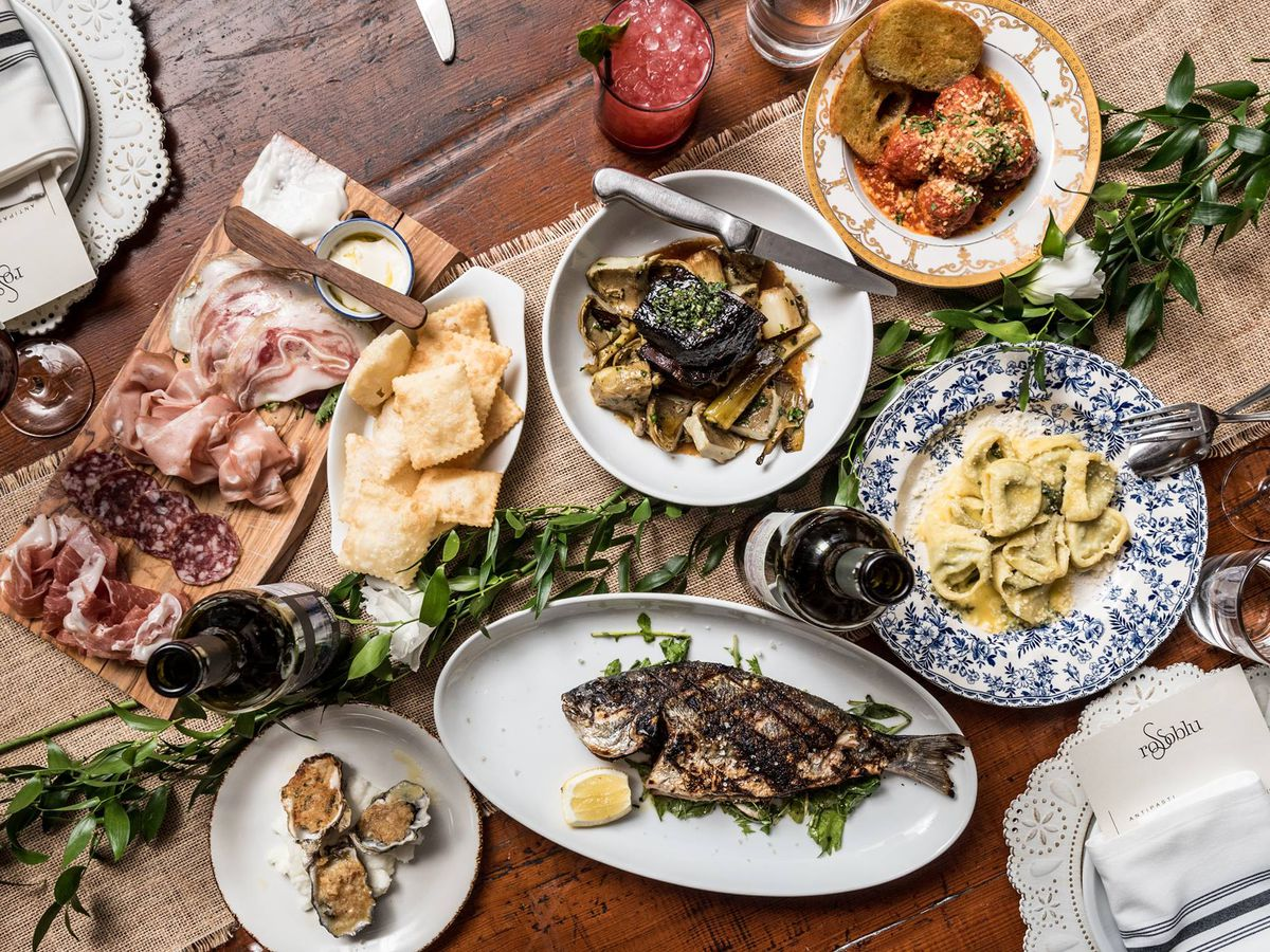 Rossoblu dishes from its Downtown LA restuarant