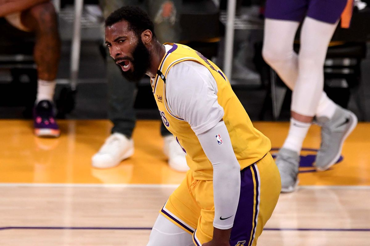 Los Angeles Lakers defeat the Phoenix Suns during 109-95 game three of the Western Conference First Round NBA Playoff basketball game