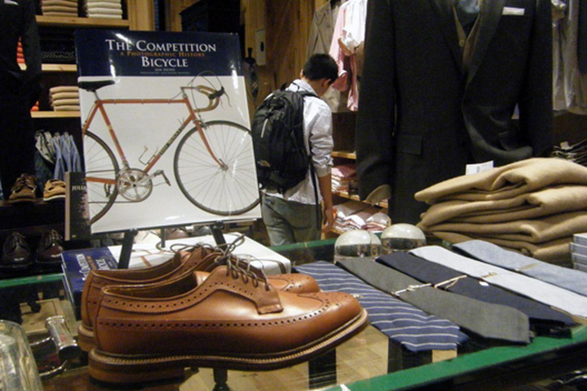 J.Crew Men's bike book, shoe, and necktie corner