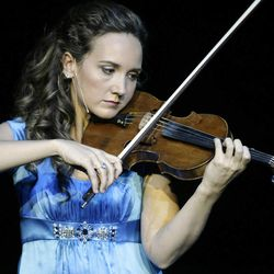 """Jenny Oaks Baker plays """"God Bless America"""" at America's Freedom Festival at Brigham Young University in Provo, Utah, Sunday, June 27, 2010."""