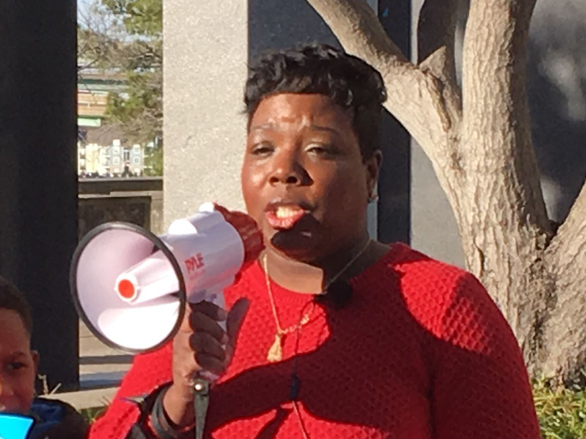 Tikeila Rucker, president of the United Education Association of Shelby County