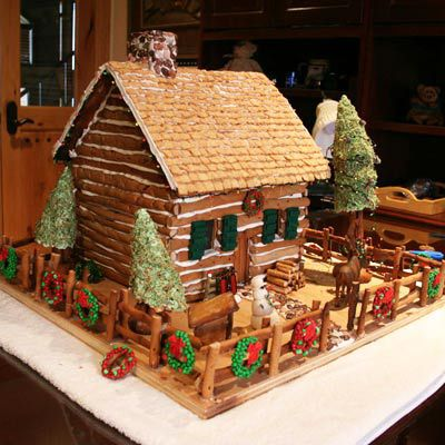 Gingerbread cabin.