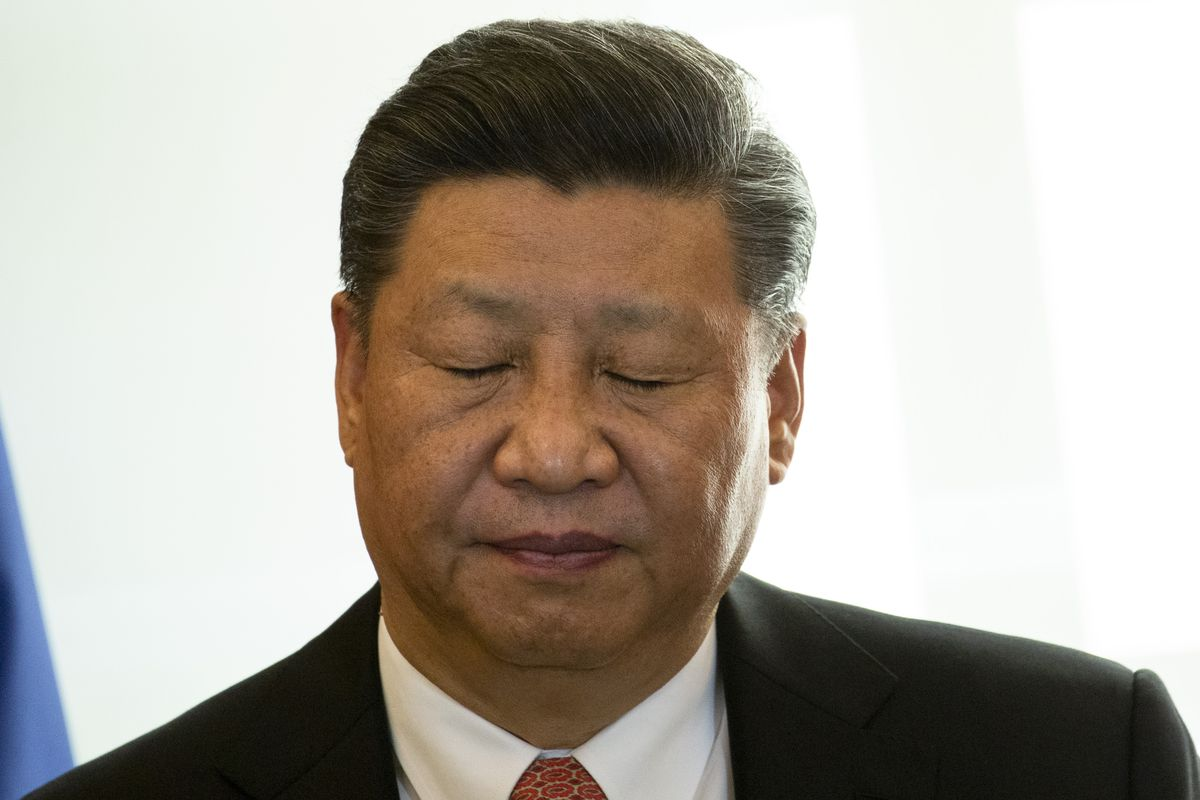 Image result for President Xi sad