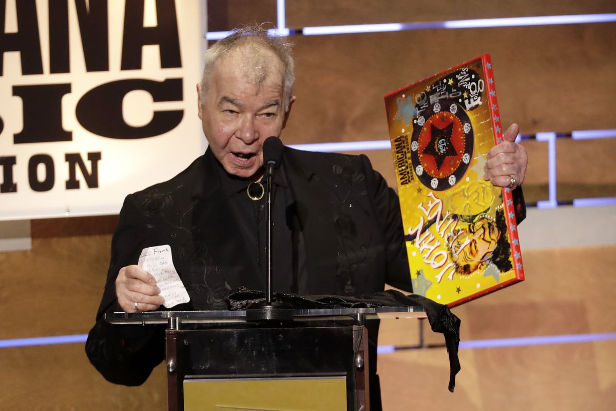 John Prine accepts the 2019 Album of the Year award at the Americana Honors & Awards show in Nashville, Tennessee.