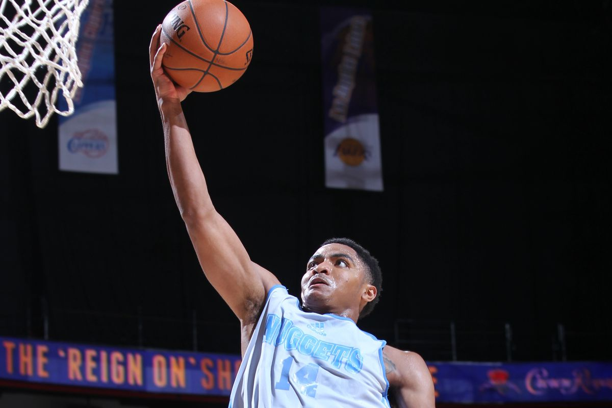 Gary Harris with an easy lay in after picking Utah's point guard