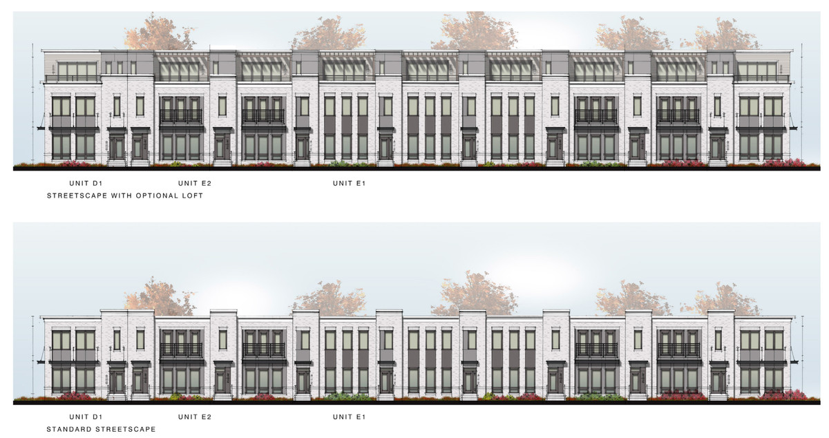 A rendering of the townhomes designed by Monte Hewett