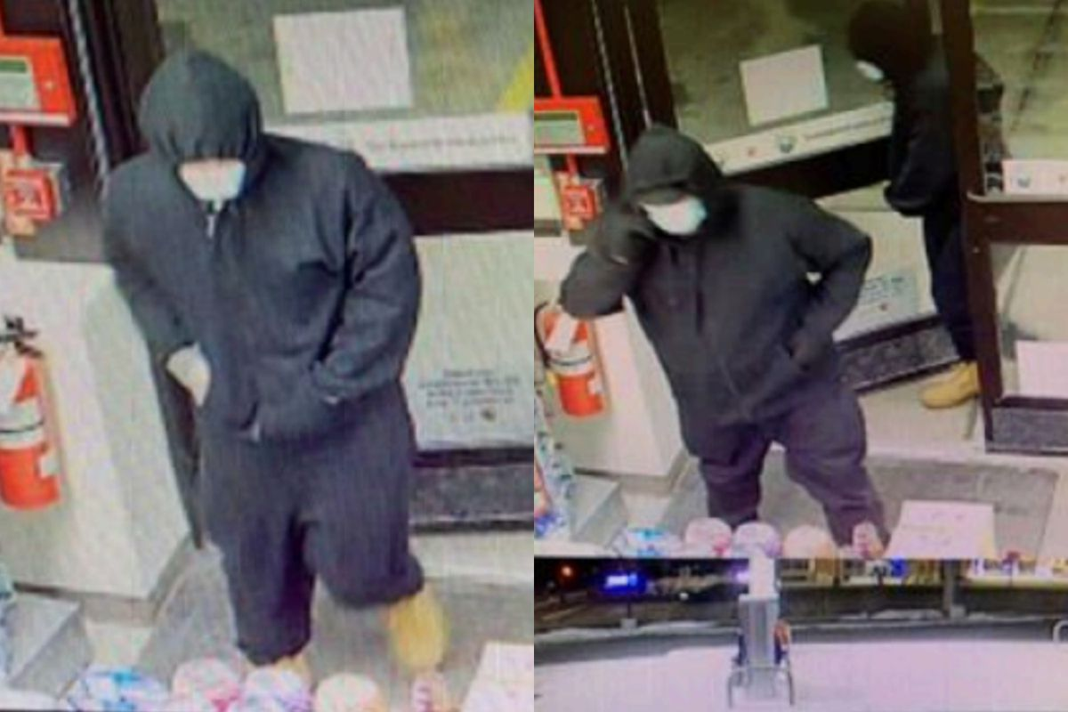 Surveillance video frames shows two men wanted for robbing a 7-Eleven near 63rd and Main Street in Downers Grove on Feb. 28.