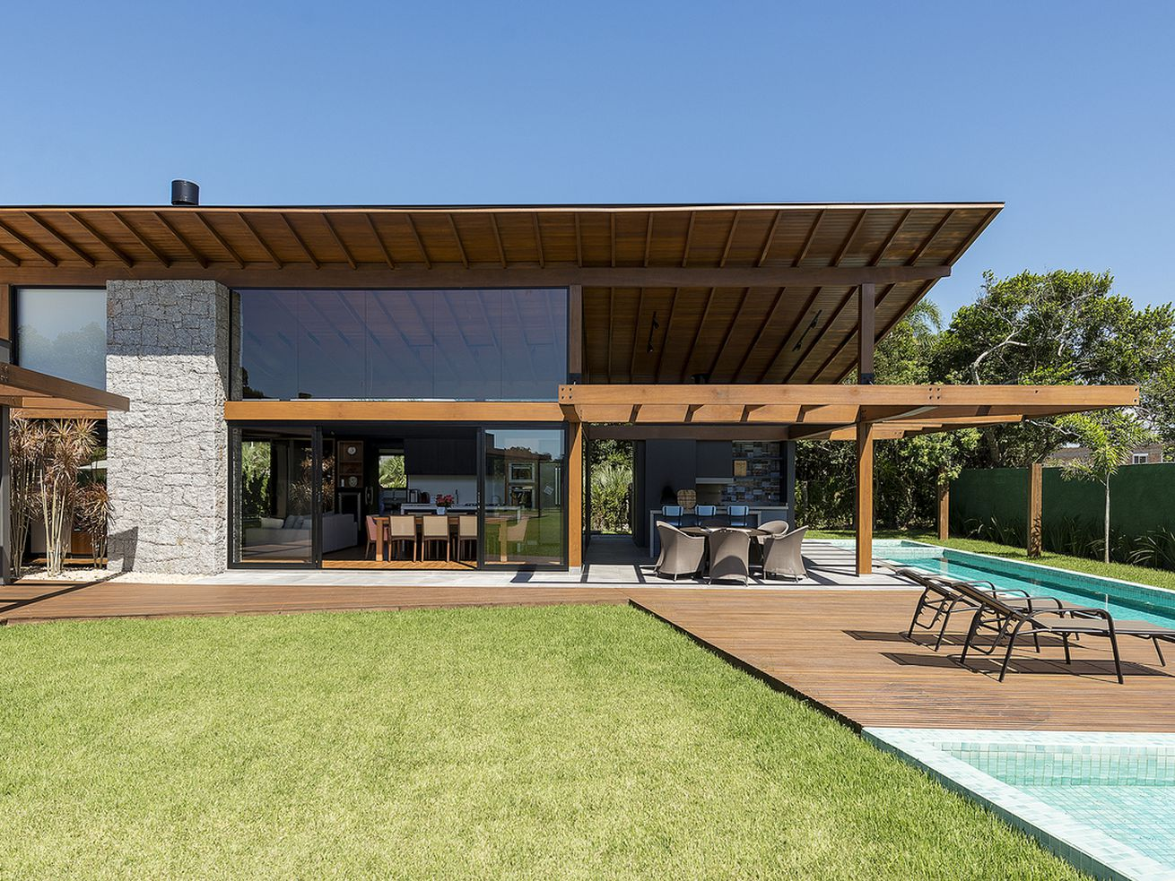 Indoor outdoor modern house hits all the right angles