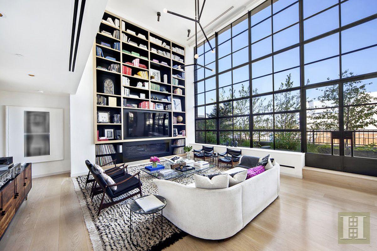 A West Chelsea penthouse ...