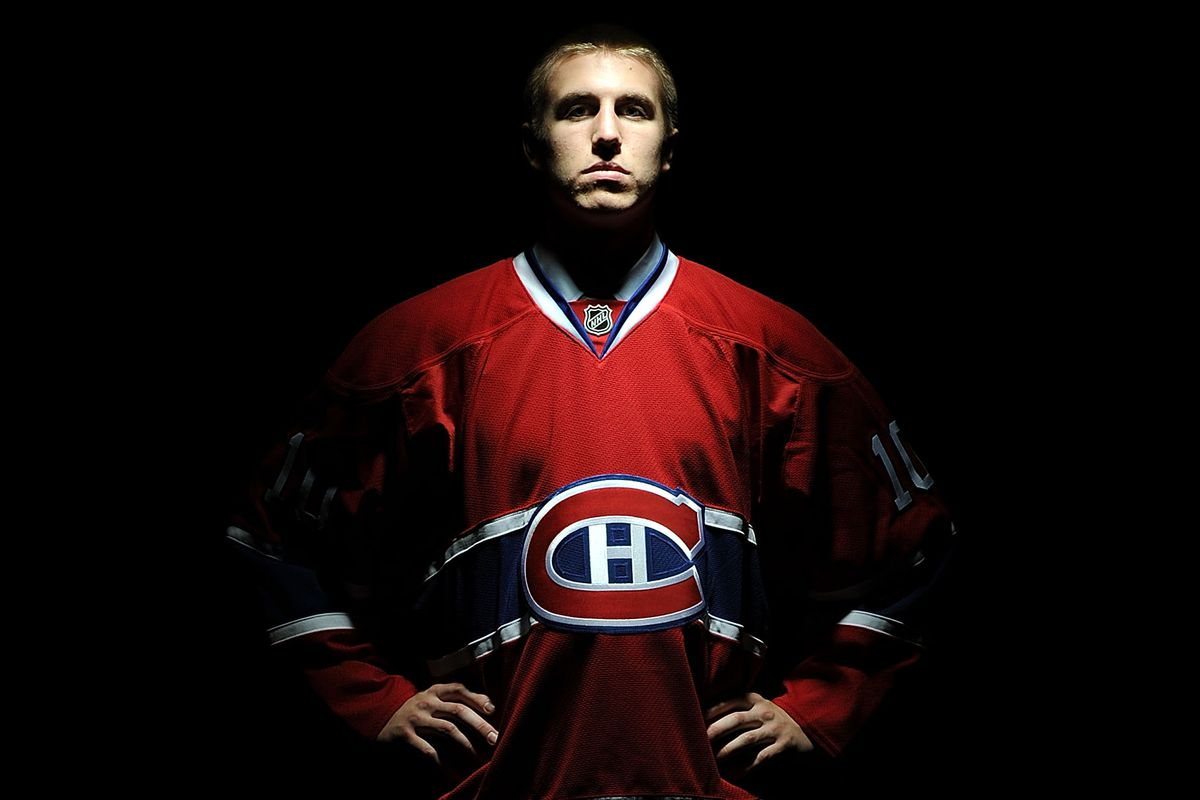LOS ANGELES, CA - JUNE 25: Jarred Tinordi, drafted 22nd of the Montreal Canadiens, poses for a portrait during the 2010 NHL Entry Draft at Staples Center on June 25, 2010 in Los Angeles, California.