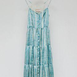 "Lauren Moffat Tiered Triggerfish Dress, <a href=""http://shop.thistleclover.com/collections/dresses/products/lauren-moffatt-tiered-triggerfish-dress"">$419</a>"