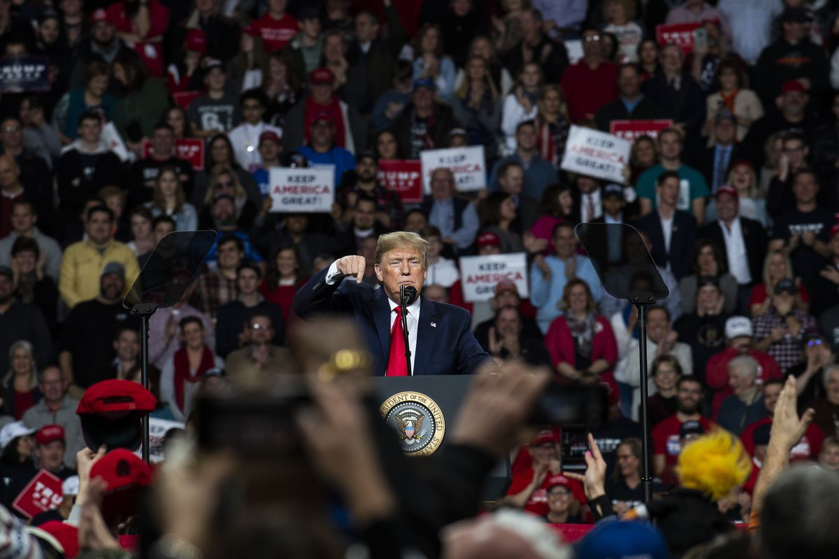 """President Donald Trump Holds """"Keep America Great"""" Campaign Rally In Toledo, Ohio"""