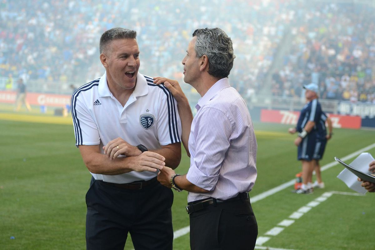 This is the first and only time Vermes has smiled in his entire life. Normally he is screaming at refs...