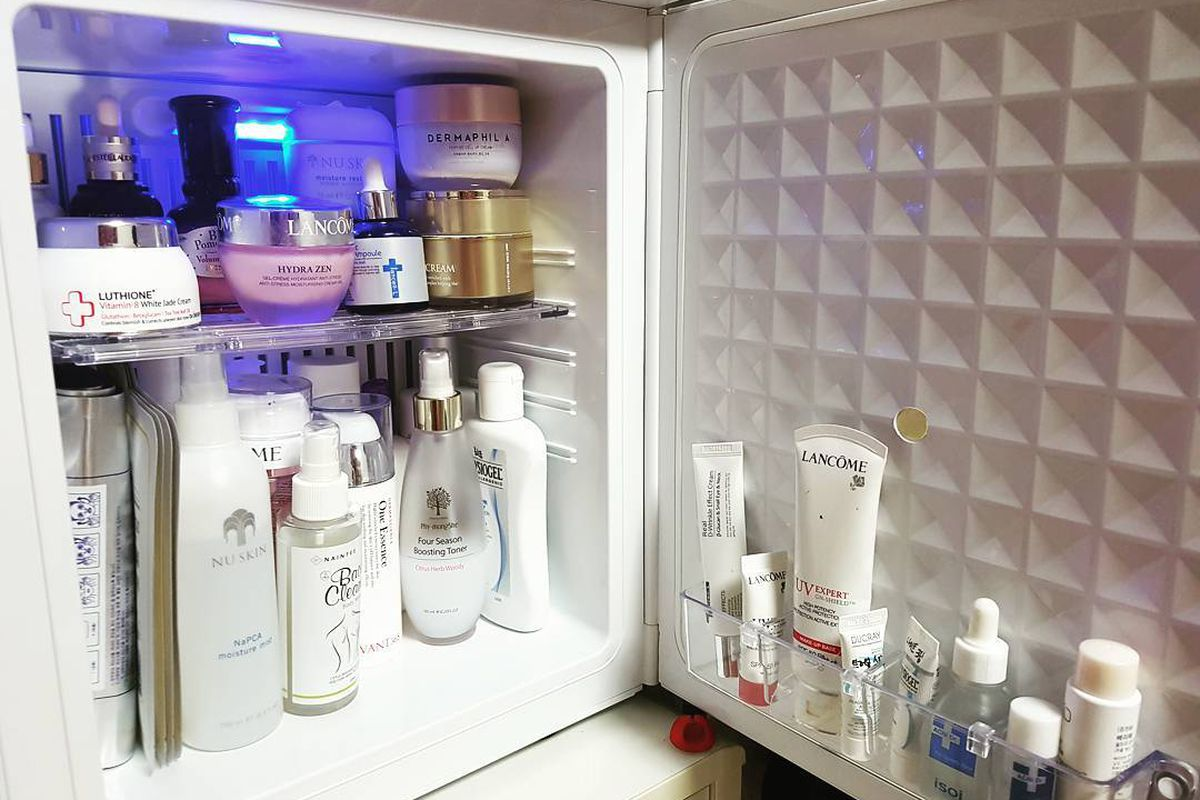 would you buy a mini fridge just for beauty products racked