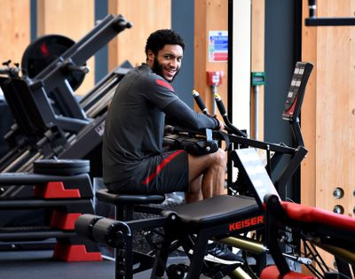 Gomez cosplays as that annoying fella in the gym who sits and rests (or texts) on the equipment you want to use.