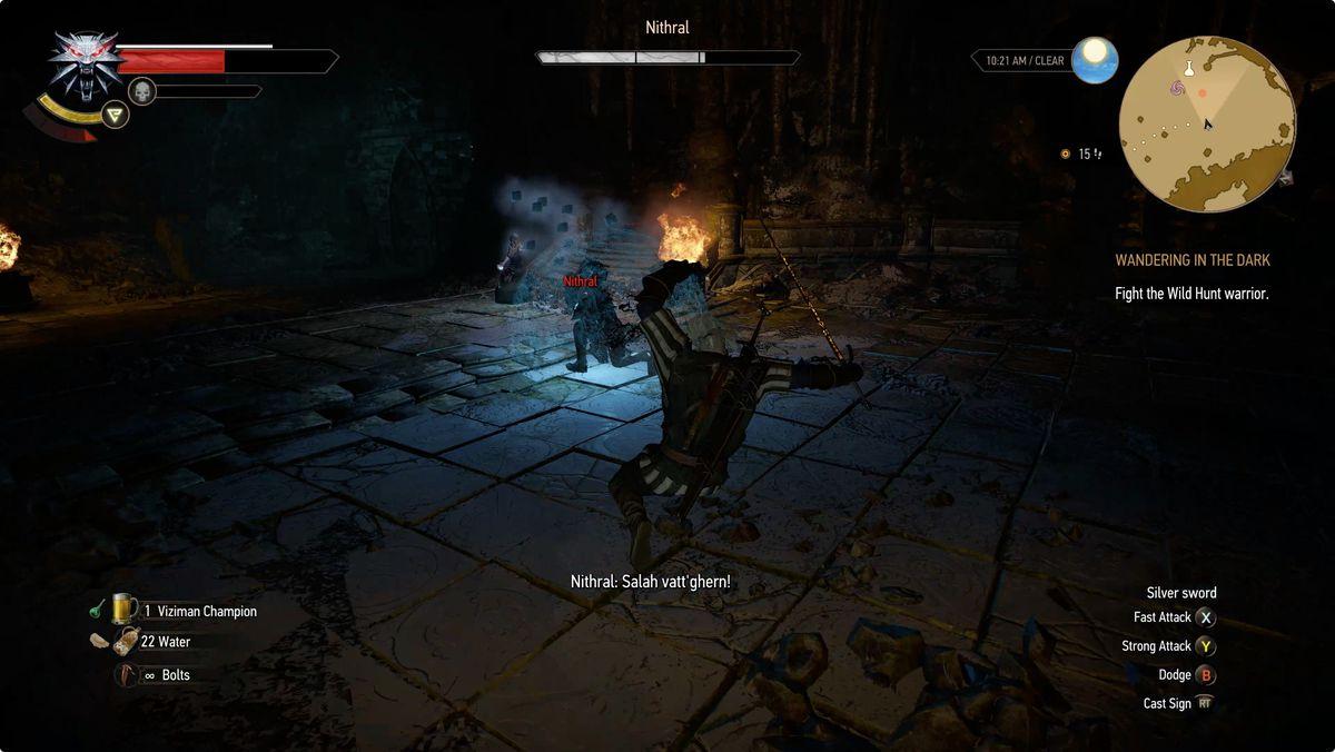 Witcher 3 Wandering in the Dark Nithral Wild Hunt warrior