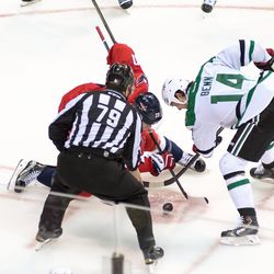 Brouwer and Benn Faceoff