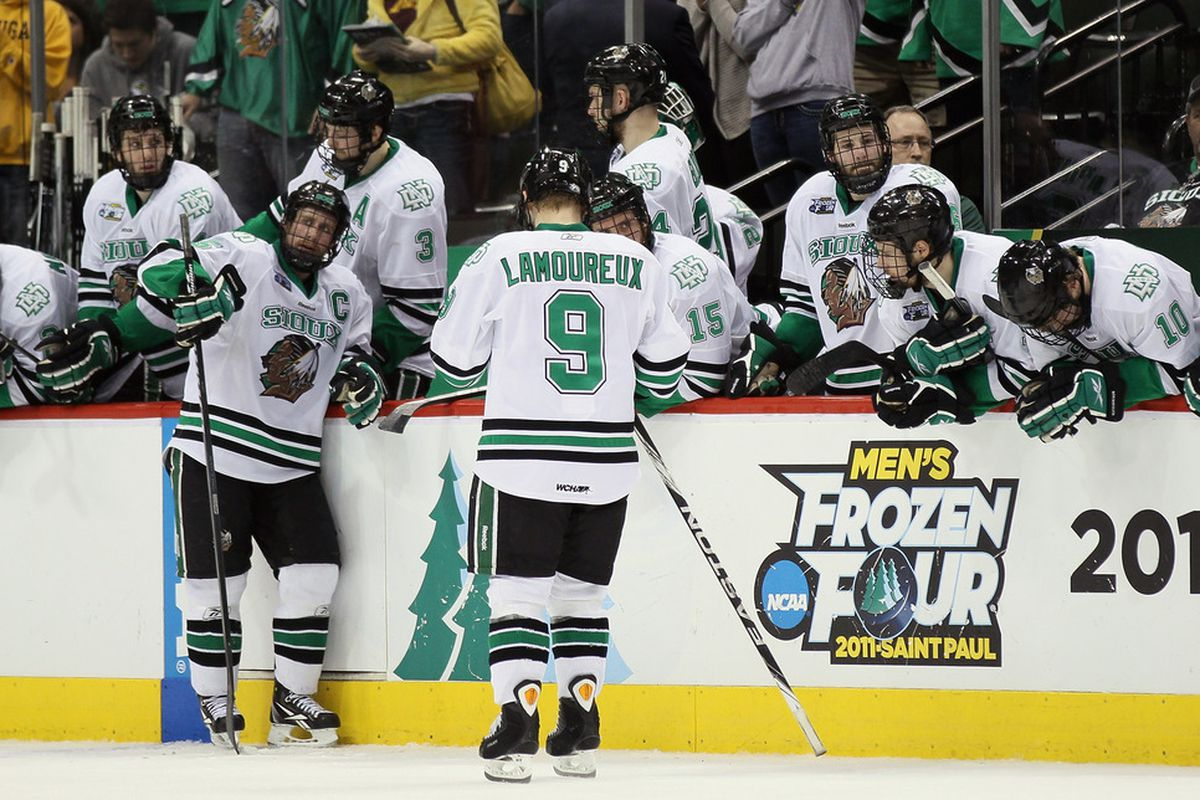North Dakota will look for the split tonight at Agganis Arena.