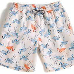 "<span class=""credit""><b>Peter Millar</b> Flamingo Swim Trunks at <b>North River Outfitter</b>, <a href=""http://www.northriveroutfitter.com/peter-millar-flamingo-swim-trunks/"">$79.50</a></span><p>"