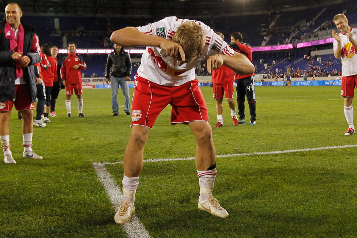 Jan Gunnar Solli can keep dancing as the Red Bulls are unlikely to face the one team he has admitted dreading traveling to play against again in 2011.