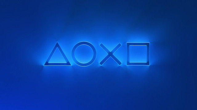 PS5 future of gaming event title screen with controller buttons