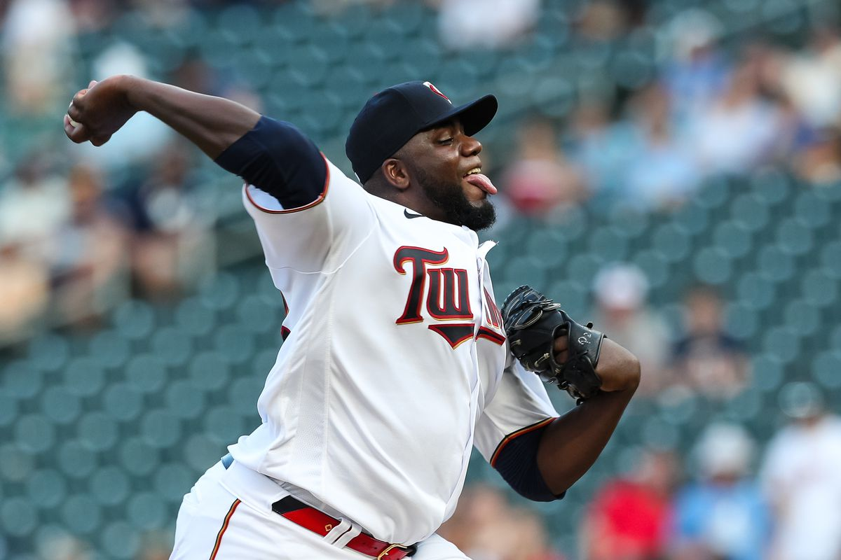 Michael Pineda of the Minnesota Twins delivers a pitch against the New York Yankees in the first inning of the game at Target Field on June 8, 2021 in Minneapolis, Minnesota. The Yankees defeated the Twins 8-4.