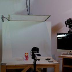 A stop motion animation station