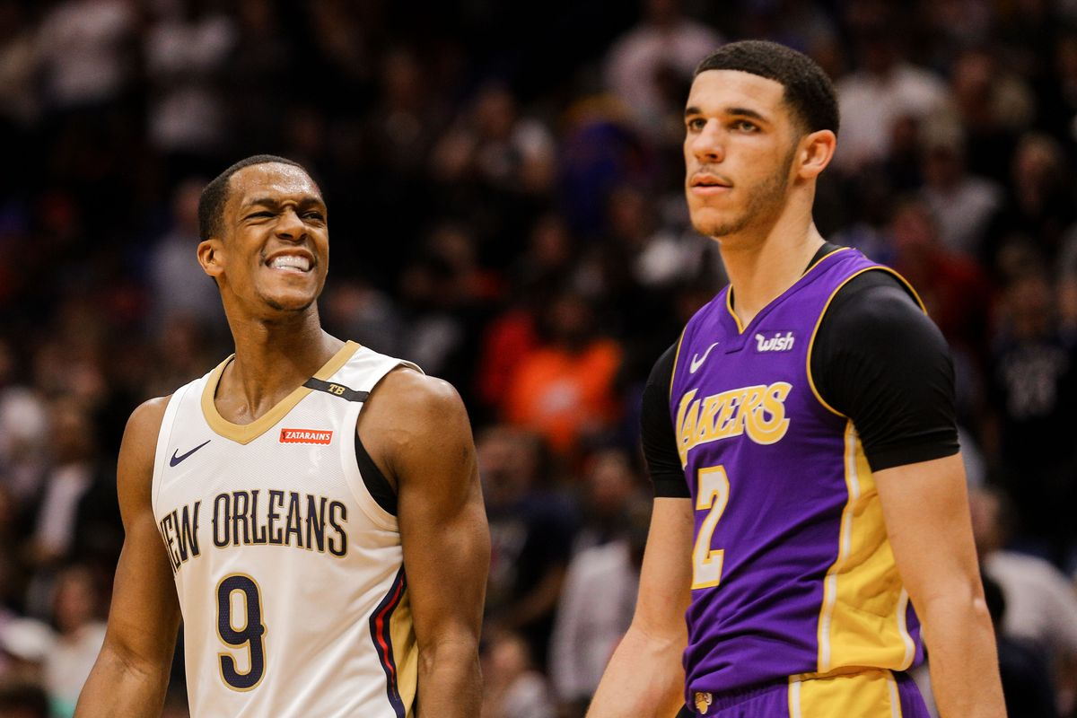 separation shoes 3a30b ddde4 Rajon Rondo focused on being mentor with Lakers, has 'really ...