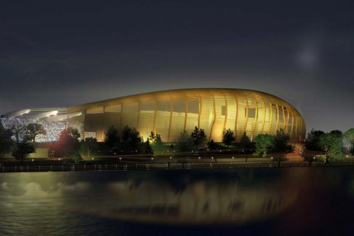 Re-built Frank Clair Stadium conceptual image