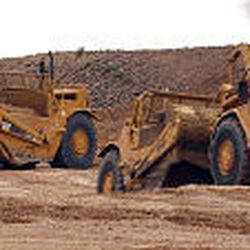 Heavy equipment prepares for winter drilling on Pinedale Mesa in Wyoming. Welfare of the area's wildlife is a major concern, as the mesa is a winter feeding ground.