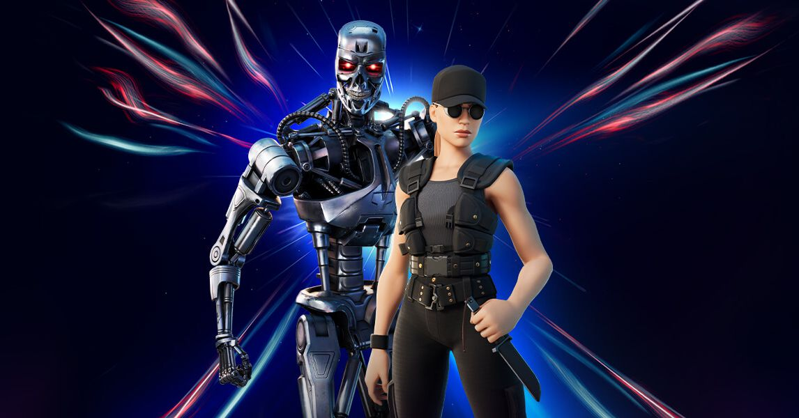 Sarah Connor and the Terminator have both arrived in Fortnite