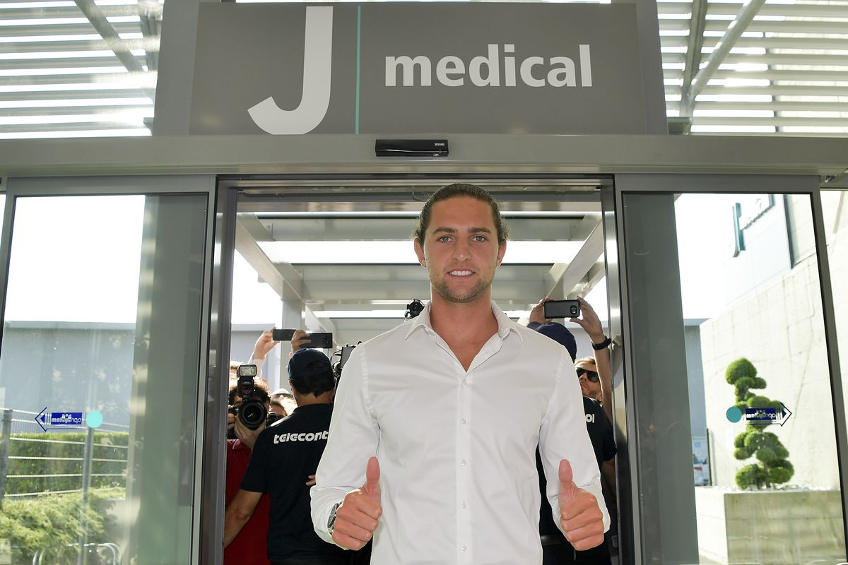 New Juventus Signing Adrien Rabiot attends medical tests...