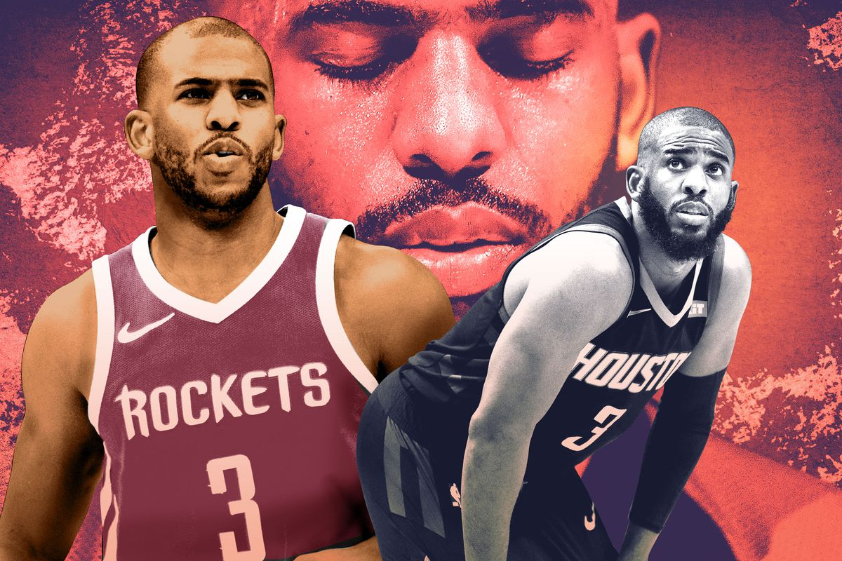A photo illustration featuring Chris Paul